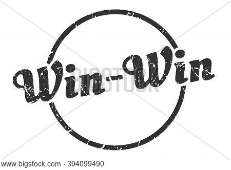 Win-win Sign. Win-win Round Vintage Grunge Stamp. Win-win