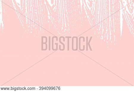 Grunge Texture. Distress Pink Rough Trace. Flawless Background. Noise Dirty Grunge Texture. Unequale