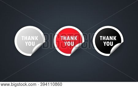 Thank You Label. Thankful. Vector Eps 10. Isolated On White Background