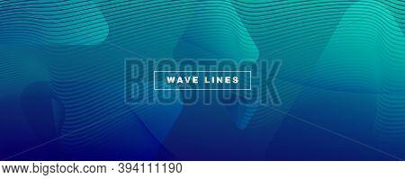 Dark Dynamic Wave. Fluid Abstract Liquid. Curve Gradient Lines. Dynamic Wave. Modern Pattern. Flow C