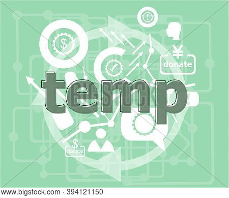 Text Temp. Business Concept . Infographics Collection Icons Of Web Development, User Interface Testi