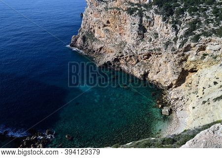 View Of Cala Inferno In The Coast Of Capo Caccia