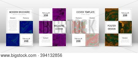 Abstract Cover. Gorgeous Design Template. Suminagashi Marble Business Poster. Gorgeous Trendy Abstra