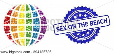 Squared Dot Mosaic Lgbt World And Sex On The Beach Dirty Seal. Blue Seal Contains Sex On The Beach T