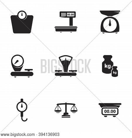 Icons For Theme Scales, Weighing, Weight, Balance. White Background