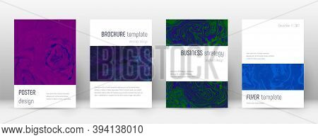 Abstract Cover. Fine Design Template. Suminagashi Marble Minimalistic Poster. Fine Trendy Abstract C