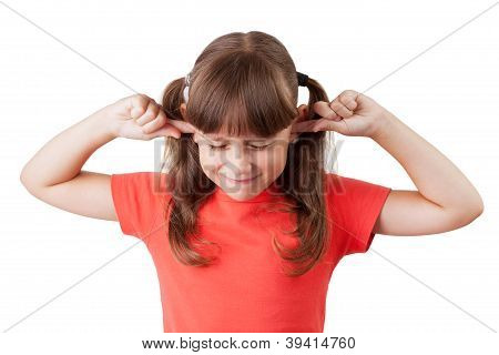 Little Girl Covered His Ears