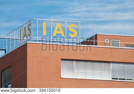 Bellinzona, Switzerland - 31st October 2020 : Istituto Delle Assicurazioni Sociali (ias) Sign Over T