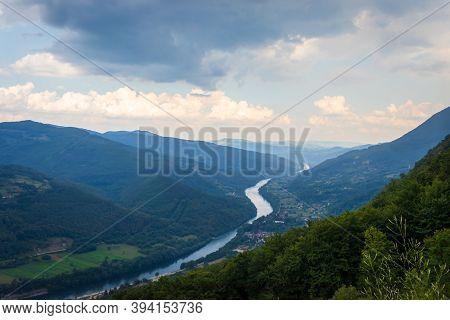 Drina River Canyon In Tara National Park In Serbia