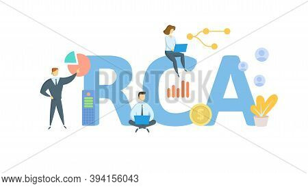 Rca, Root Cause Analysis. Concept With Keywords, People And Icons. Flat Vector Illustration. Isolate