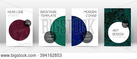 Abstract Cover. Excellent Design Template. Suminagashi Marble Trendy Poster. Excellent Trendy Abstra
