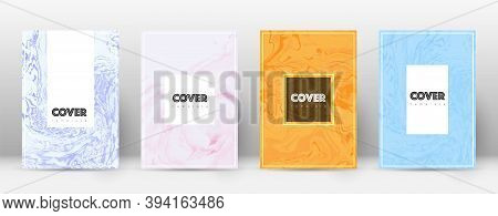 Abstract Cover. Gorgeous Design Template. Suminagashi Marble Hipster Poster. Gorgeous Trendy Abstrac