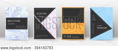 Abstract Cover. Decent Design Template. Suminagashi Marble Black Poster. Decent Trendy Abstract Cove