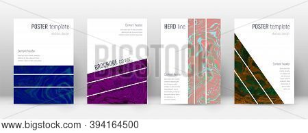 Abstract Cover. Superb Design Template. Suminagashi Marble Geometric Poster. Superb Trendy Abstract