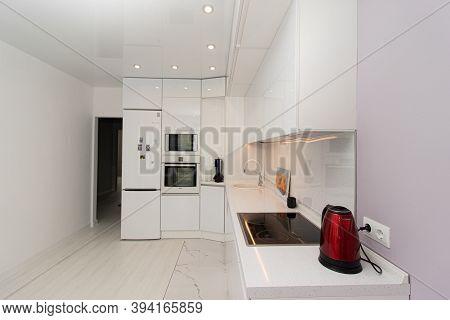 Modern White Kitchen . The Kitchen Is Of Solid Oak . Kitchen Details. Modern Kitchen Furniture Filli