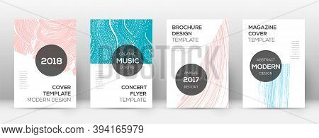 Cover Page Design Template. Modern Brochure Layout. Creative Trendy Abstract Cover Page. Pink And Bl