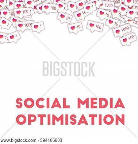 Social Media Icons. Social Media Optimisation Concept. Falling Gradient Like Counter. Magnificent Ab