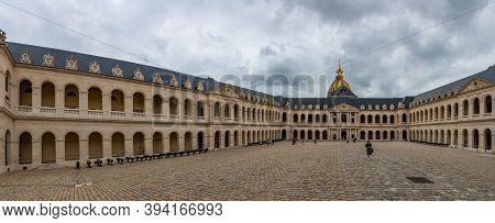 Paris, France - August 29, 2019 : Court Of Honor In Palace Les Invalides, Or National Residence Of T