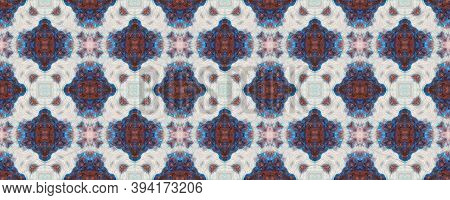 Batik Multicolor Design.  Traditional Backdrop.  Colorful Natural Ethnic Illustration. Indigo And Bl