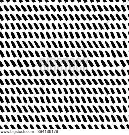 Hand Drawn Slanted Brush Strokes Seamless Pattern
