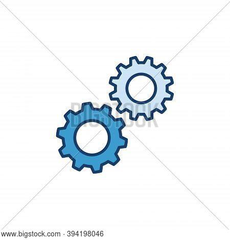 Spur Gears Creative Icon. Configuration Vector Concept Sign