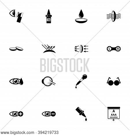 Eye Lens Icon - Expand To Any Size - Change To Any Colour. Perfect Flat Vector Contains Such Icons A