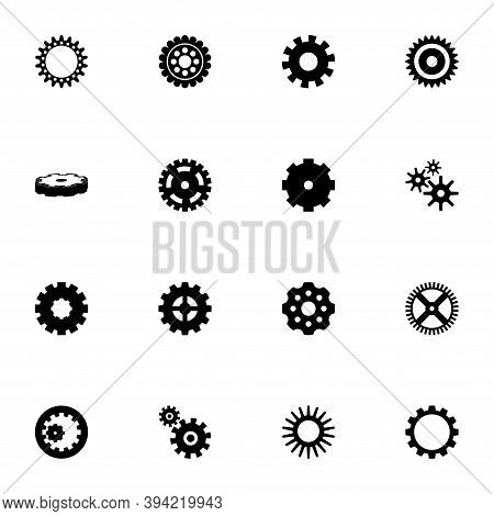 Gear Icon - Expand To Any Size - Change To Any Colour. Perfect Flat Vector Contains Such Icons As Se
