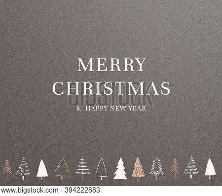 Christmas greeting minimal dark background