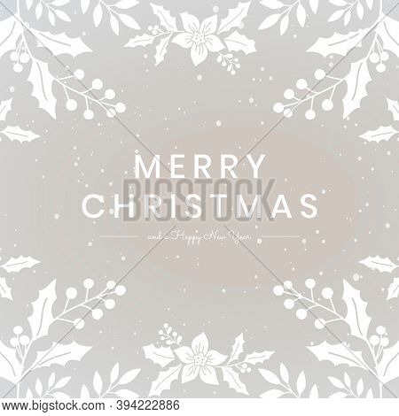 Merry Christmas greeting social media post