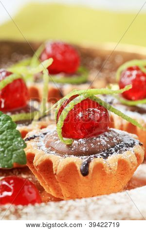 filled cupcake decorated with comfit