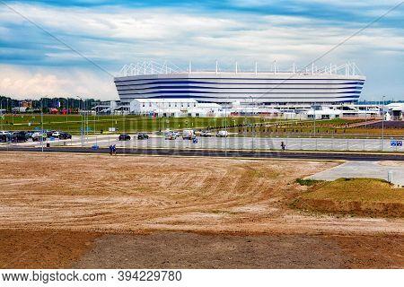 Kaliningrad, Russia - June 13, 2018: View Of The Modern Kaliningrad Football Stadium (also Called Ar