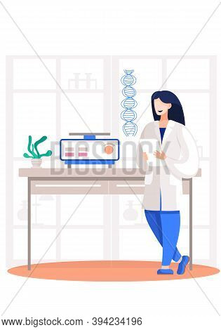 Diagnosis Of Diseases, Physician Doctor In Hospital. Dna Analysis And Diagnosis Of Genetic Diseases.