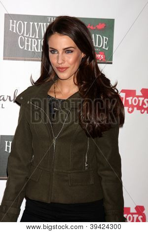 LOS ANGELES - NOV 25:  Jessica Lowndes arrives at the 2012 Hollywood Christmas Parade at Hollywood & Highland on November 25, 2012 in Los Angeles, CA