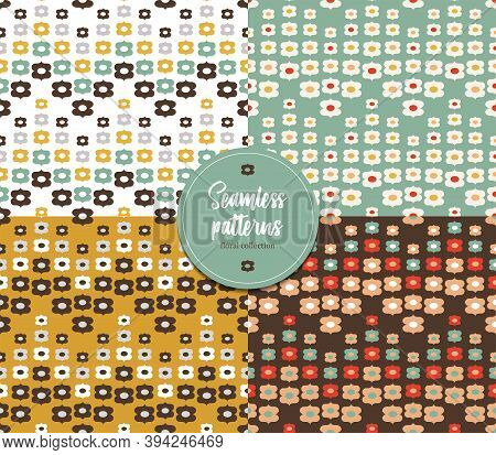 Seamless Flower Patterns. Floral Collection. It Can Be Used For Wallpaper, Pattern Fills, Textile De