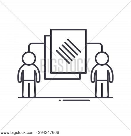 Assignments Icon, Linear Isolated Illustration, Thin Line Vector, Web Design Sign, Outline Concept S