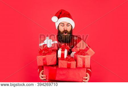 Prosperity And Wellbeing. Boxing Day. Shopping Concept. Good Purchase. Achieve Success. Santa Claus.