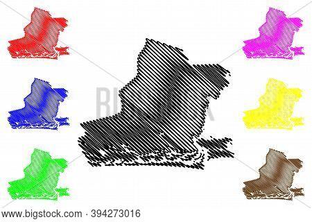 Lagos City (federal Republic Of Nigeria, Lagos State) Map Vector Illustration, Scribble Sketch City