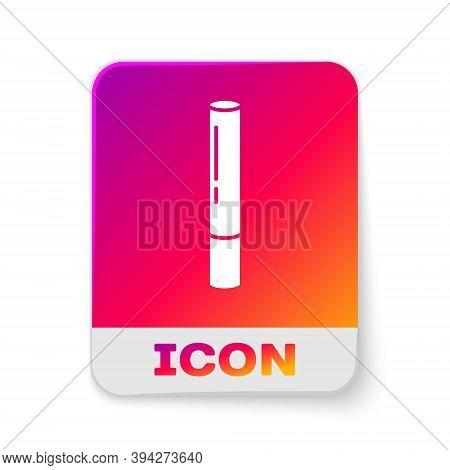White Marijuana Joint, Spliff Icon Isolated On White Background. Cigarette With Drug, Marijuana Ciga