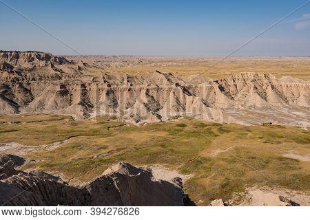 Hills Of Badlands National Park In South Dakota