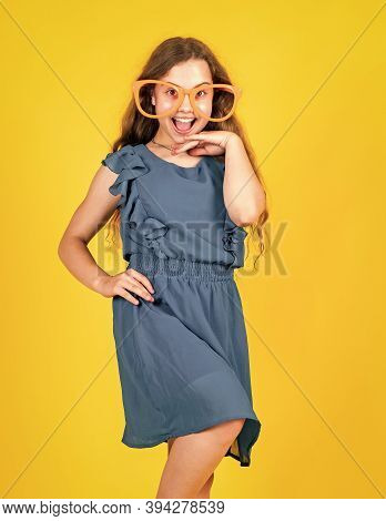 She Is Really Cute. Her Trendy Style. Elegant Formal Look. Stylish Fashion Child Baby Girl Kid In Dr