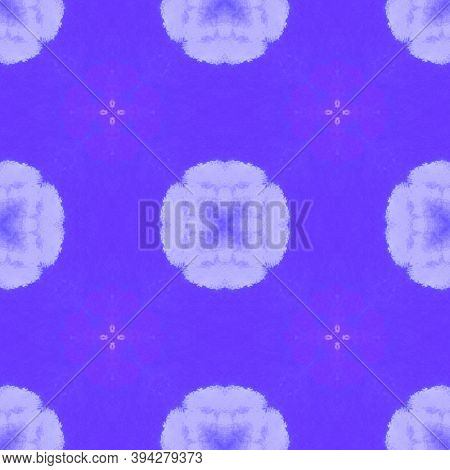Seamless Ethnic Pattern. Aquarelle Traditional Print. Victorian Or Damask Style. Deep Purple And Pin