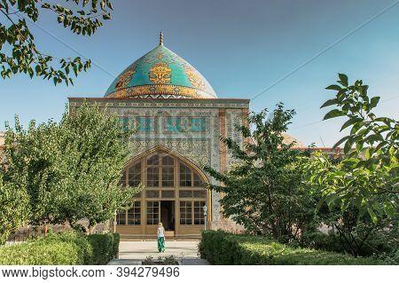 Yerevan,armenia-july 2019. Blue Mosque.elegant Islamic Masjid Building.travel To Armenia.touristic A