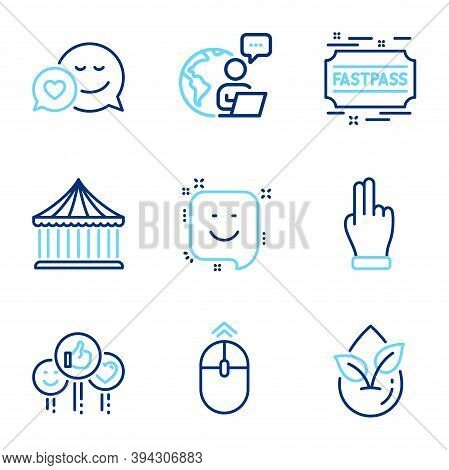 Business Icons Set. Included Icon As Click Hand, Dating, Like Signs. Organic Product, Smile, Swipe U