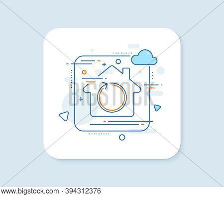 Loop Arrow Line Icon. Abstract Vector Button. Refresh Arrowhead Symbol. Navigation Pointer Sign. Loo
