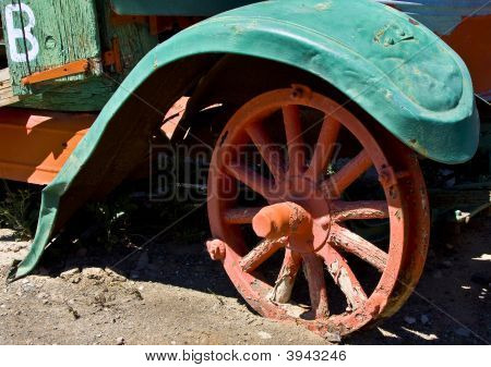 Old Fender And Wheel