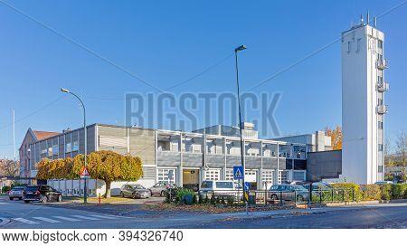 Fredrikstad, Norway - October 28, 2016: Fire Brigade Station Building In Fredrikstad, Norway.