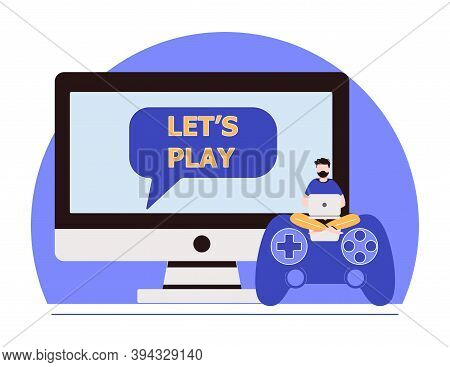 Cross-platform Play, Cross-play, Cross-platform Gaming On Different Video Game Hardware Concept. Vec