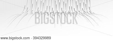 Big Data Flow Technology And Science Vector Background, Tech Abstraction With Lines Electronics And