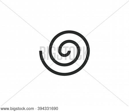 Circle, Helix, Scroll, Spiral Icon. Vector Illustration.