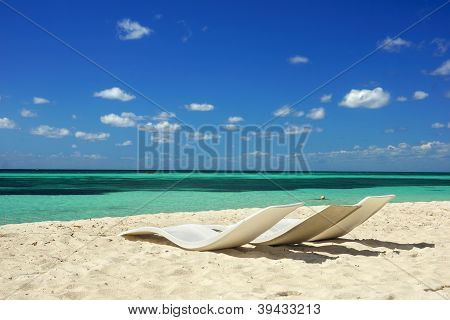 Chairs On The Beach, Cozumel, Mexico